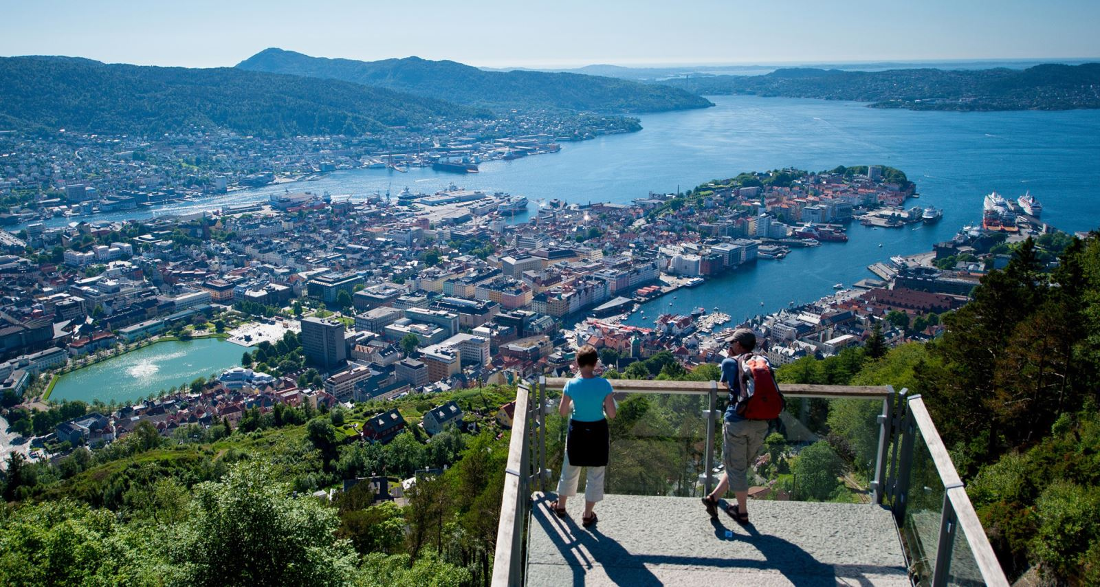 Places to visit in Norway - Bergen and Fløyen