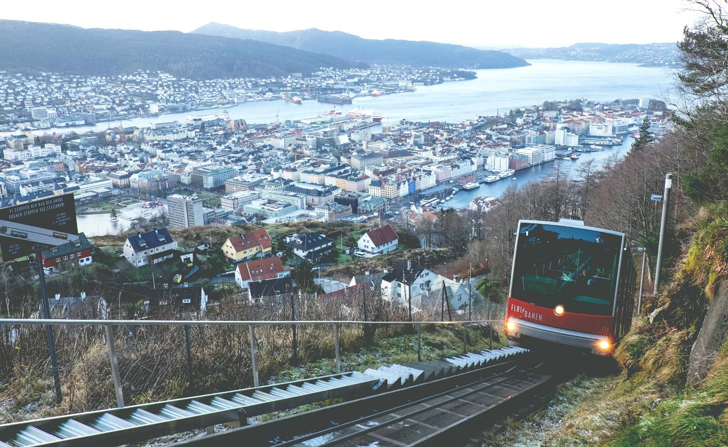 Weekend i Bergen - Fløibanen