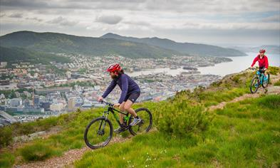 Mountain Bike at Mount Fløyen